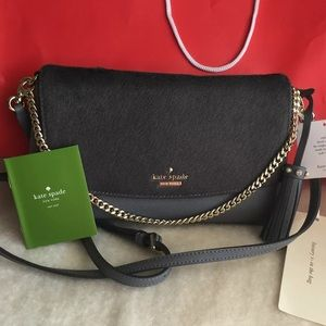 Kate Spade Laurel Way Smoky Grey Evening Bag